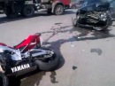 Авария Yamana R1 и Volvo 07.04.2014 Орел