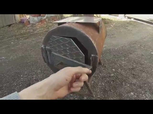Супер Печь буржуйка 100% КПД из газового баллона Отопление гаража
