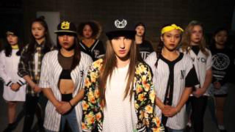 Huey Pop Lock Drop it choreography by 11 year old Taylor Hatala Melanie Hidalgo