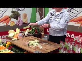 Kак быстро нарезать овощи! Самая быстрая шинковка капусты!