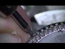 JURA Stone Setting. Watch bezel (Stainless Steel) Part1. Preparing for setting