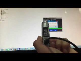 Anleitung - Wismec TC75W mit der Evic-VTC Mini Firmware 2.0 Updaten
