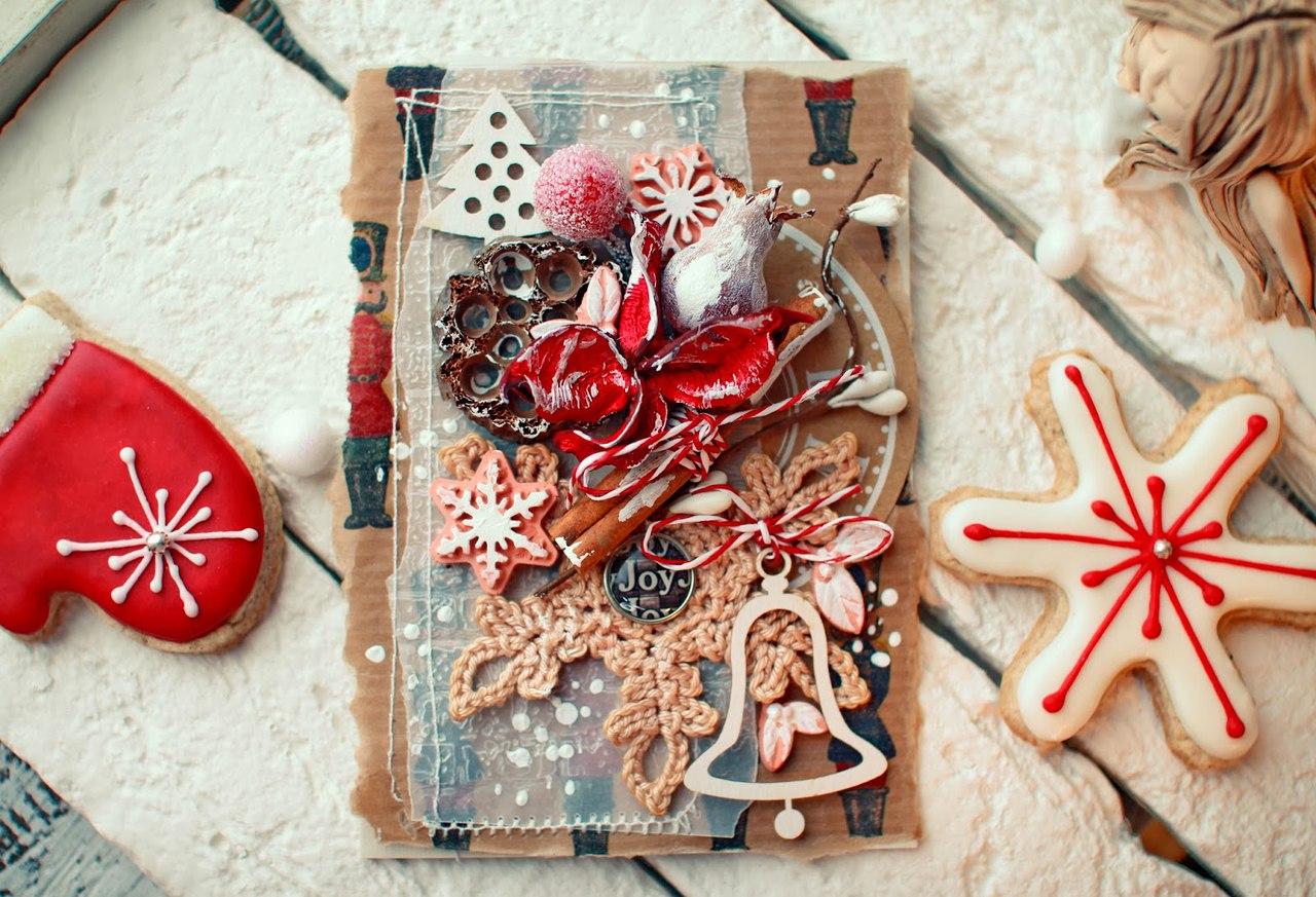 Новогодние открытки экостиль, открытку