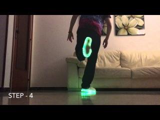 How to Shuffle | ( Cutting Shapes Tutorial #1 Advanced ) - Guerrero Jah (KONIJNENDANS) Led Shoes