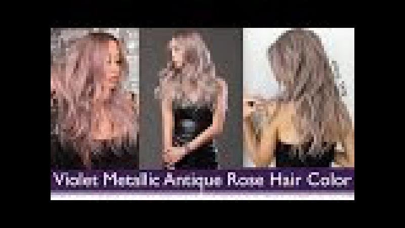 Violet Metallic Antique Rose Hair Color