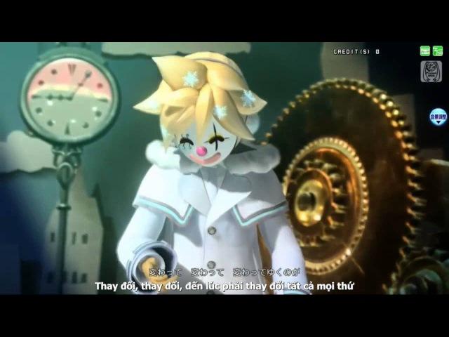 【Yue Moon】Karakuri Pierrot - Kagamine Rin ft Kagamine Len【Vietsub】
