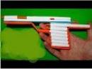 Как сделать пистолет из бумаги который стреляет