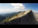 Дрон над връх Вихрен и Кончето Phantom drone over Pirin mountain Bulgaria