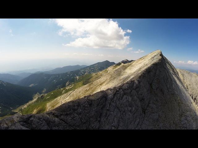 Дрон над връх Вихрен и Кончето / Phantom drone over Pirin mountain, Bulgaria