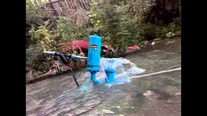 Hydraulic ramp pump.Гидротаран 1800 литрчас
