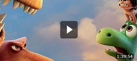 Мультфильм хороший динозавр мальчик спот бежит на четвереньках.