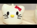 Оформление HELLO KITTY. Красивое оформление яблок в карамели и шоколаде