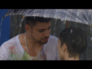 Рита и Жоржиньо Сцена под дождем (Проспект Бразилии 17 серия) Débora Falabella Cauã Reymond