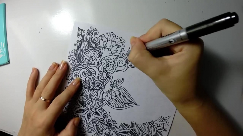 Lush Summer Doodle Flowers With Color Pencils Zendoodling Зентангл Дудлинг