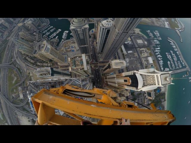 CLIMBING DOWN DUBAIS TALLEST TOWER CRANE