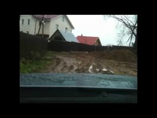 Тест драйв тигуана по дачной  грязи