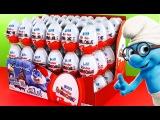 Kinder Surprise Eggs Opening Disney Cars Scooby Doo Kinder Planes Joy Egg Videos Tous