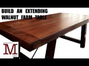 Build an Extending Walnut Farm Style Table 005