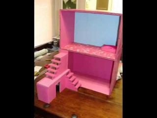 Как сделать ДОМ для кукол со СТУПЕНЬКАМИ  How to make a HOUSE for dolls with STEPS