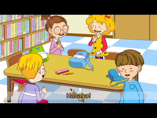 [In/On/Under] Where is my pencil? It's on the chair. - Easy Dialogue - English animation for Kids