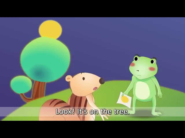 The Green Frog - Where is it (InOnUnder) - English animated story for Kids