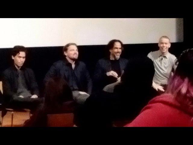 THE REVENANT QA with Leonardo DiCaprio, Alejandro G. Inarritu, Will Poulter, Forrest Goodluck