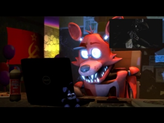 SFM Реакция Фокси на трейлер Five nights at Freddy's 2