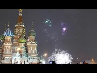 Салют на Красной Площади HD 4K Новый Год 2016 Москва MOSCOW SALYT ORIGINAL