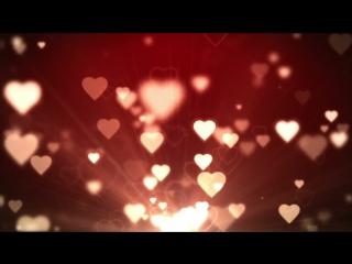 Футаж с сердечками