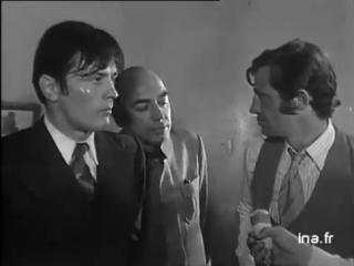 Ален Делон и Жан–Поль Бельмондо на съёмках фильма Борсалино (1970)
