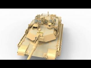 MENG TS-026 Американский основной боевой танк M1A2 SEP TUSK I/TUSK II.