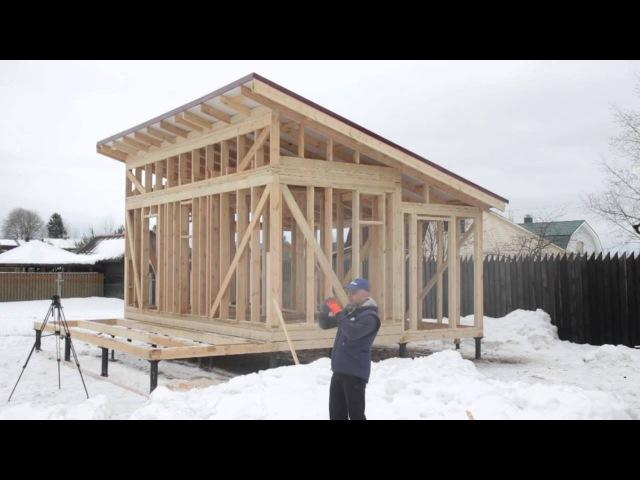 7.2. Строительство каркасной бани. Односкатная крыша. Цена.