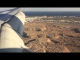 Посадка самолета в Шарм эль Шейхе при сильном боковом ветре Октябрь 2014 г.