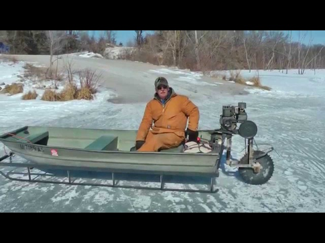 Viral video Ice Sled ice machine still works, Mississippi River to Canada