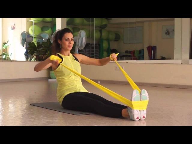 Упражнения с резиновой лентой