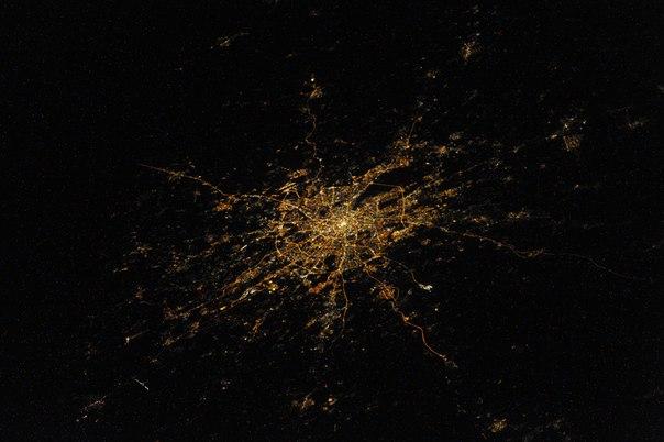 Москва, снимок из космоса