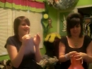 chiquitoluvs - Christine and Lynda take a request to blow up balloons till they pop