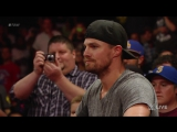 Neville vs. King Barrett- Raw, Aug. 10, 2015