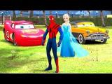 Человек-паук,Принцесса Анна, Эльза , Hudson Disney Cars и песни для детей
