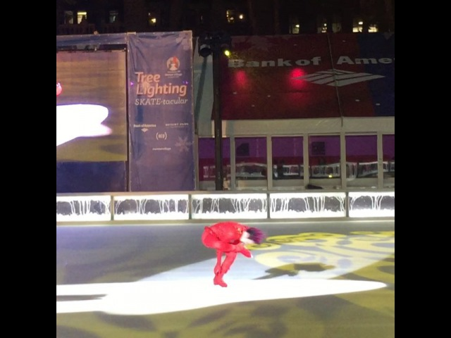 "Laurencia Wibawa on Instagram: ""Johnny Weir ⛸ at 🎄 lighting johnnyweir figureskating xmas bryantpark nyc christmastreelighting newyork wintervillage"""