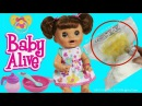 Baby Alive Doll Feeding Pooping Diaper Change - Baby Doll Eats Food Poops Nappy Change Pretend Play