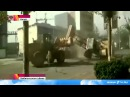 Китайские строители из провинции Хэбэй устроили бои на бульдозерах прямо на оживленной улице