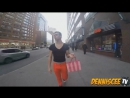 нетолерантные русские пидорашки обзывают гея, который просто гуляет по москве