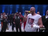 Фьюри исполняет песню после боя с Кличко