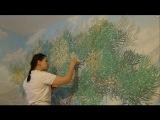 Мастер класс Барельеф дерева/ роспись стен * Необычный декор стен своими руками*