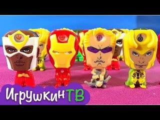 Киндер Сюрприз серия Мстители на русском \ Kinder Surprise Avengers Assemble unboxing