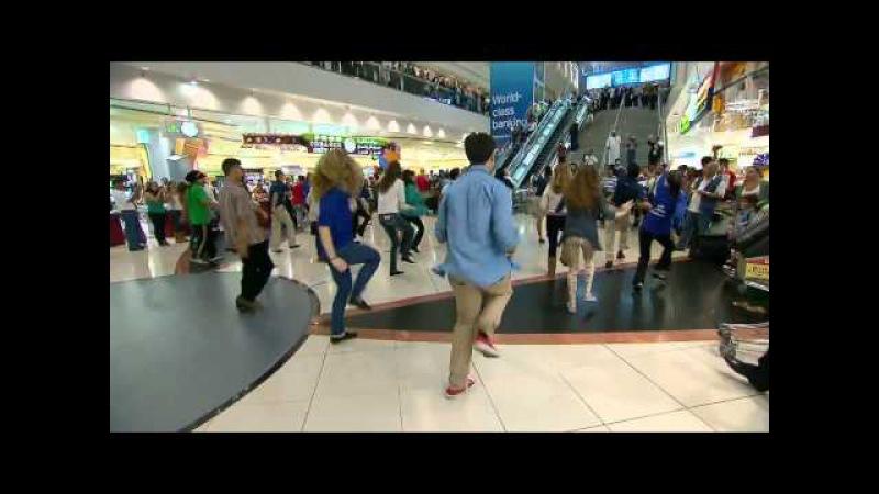 Флешмоб в аэропорту Дубая (Dubai Flash Mob) СМОТРИМ ОПИСАНИЕ