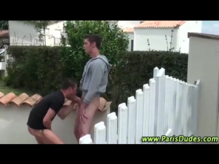 Naughty french gays get hot in public
