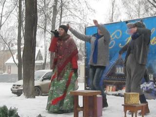 ЯНА  ВАСИЛЬЕВА выступление в Парке культуры и Отдыха 9.01.16