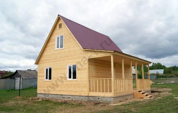 Фото: Строительство каркасно щитового дома одноэтажный